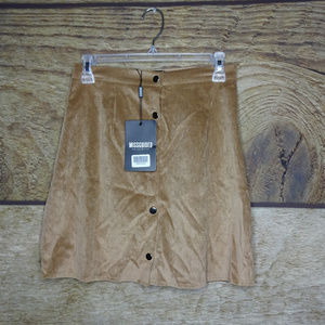 Missguided Size 4 US Straight Skirt Tan Hh2